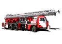 Автолестница пожарная АЛ-35 Камаз