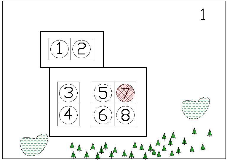 Схема расположения резервуаров